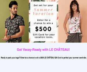 Win $500 Le Chateau Gift Card