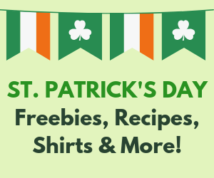 St. Patrick's Day Freebies, Recipes, Shirts & More!