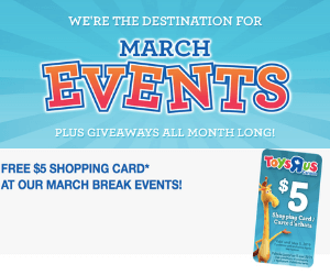 Free Toys R Us Shopping Card & Events