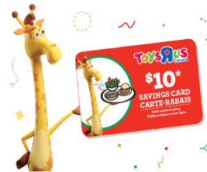 Free $10 Toys R Us Savings Card