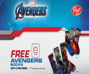 Free Avengers Socks
