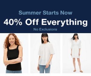 40% Off at Gap!