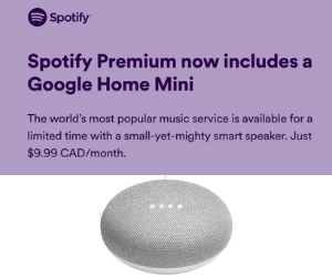 Free Google Home Mini From Spotify