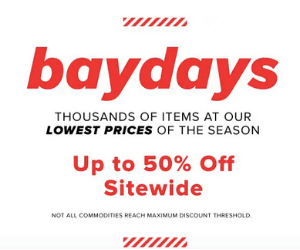 Bay Days: Up to 50% Off at Hudson's Bay