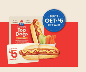 Free $5 Gift Card From Maple Leaf