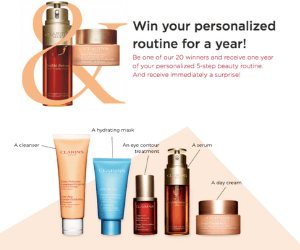 Win Free Clarins Products