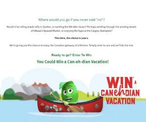Win a $5,000 Canadian Vacation from Jamieson