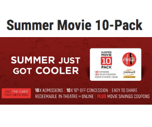 Landmark Cinemas Summer Movie 10-Pack Promo