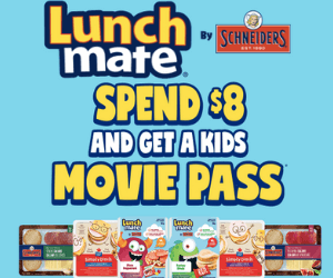 Free Movie Pass from Schneiders Lunchmates