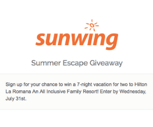 Win a Free Trip to the Dominican Republic from Sunwing
