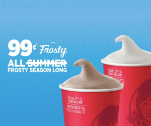 Wendy's Deal: $0.99 Frosty