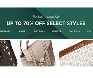 70% Off at Michael Kors
