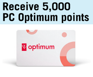5,000 Free PC Optimum Points