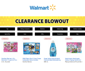 1000s of Items On Clearance At Walmart