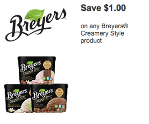 NEW $1.00 Off Breyers Ice Cream Coupon