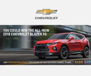 Win a Chevrolet Blazer RS