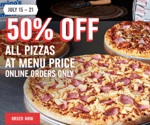 50% Off at Domino's