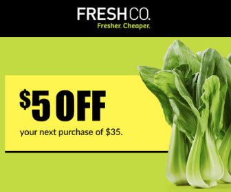 FreshCo Coupon: $5 Off