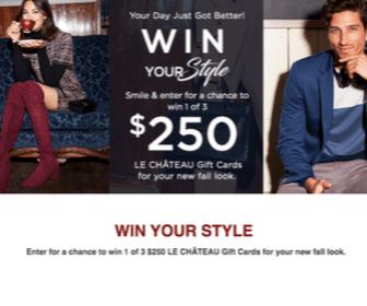 Win $500 Le Chateau Gift Card