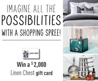 Win a $2,000 Linen Chest Gift Card