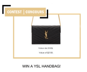 Win A YSL Bag from L'Oreal