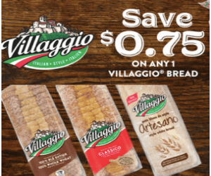 Villaggio Coupon: $0.75 Off