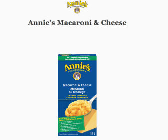Free Annie's Mac & Cheese