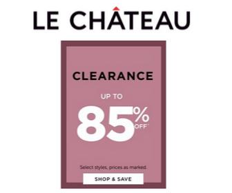 85% Off at Le Chateau