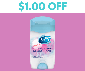graphic about Secret Deodorant Printable Coupons called $1.00 Off Mystery Deodorant Coupon