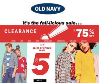 75% Off at Old Navy