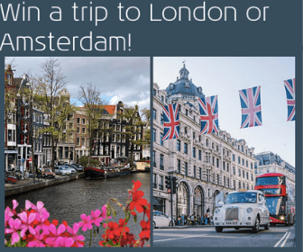 KLM Contest: Win a Trip to London or Amsterdam