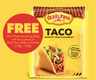 Free Old El Paso Taco Seasoning