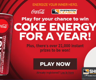 Coke Energy Instant Win Game