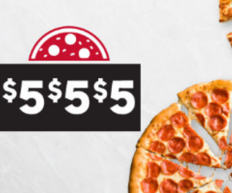 $5 Medium Pizza with Large Pizza order at Pizza Hut