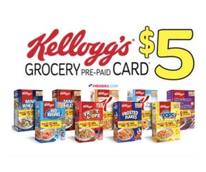 Free $5 Kellogg's Prepaid Card