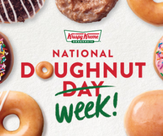 Krispy Kreme: Free Doughnut