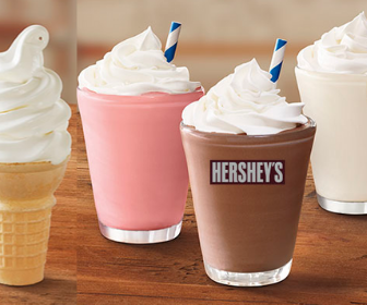 Burger King: Soft-Serve Cone $1 or Mini Shakes $2