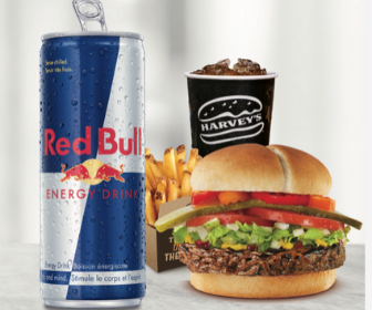 Harvey's: Get a Free Red Bull