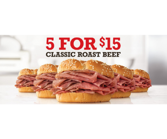 Arby's: 5 Sandwiches for $10