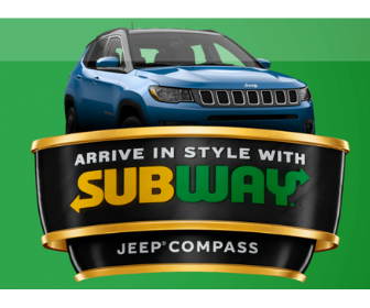 Win a Jeep Compass from Subway