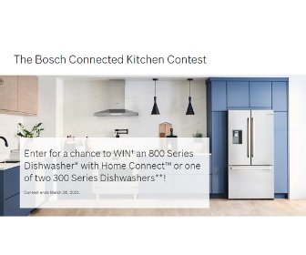 Win a Dishwasher from Bosch