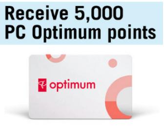 5,000 Free PC Optimum Points