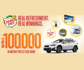 Win Instant Prizes from Canada Dry