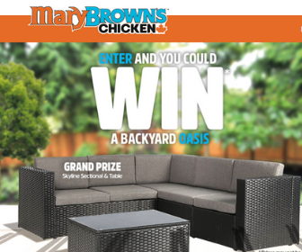 Win a Backyard Oasis from Mary Brown's