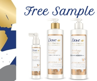 Free Dove Hair Therapy Sample & Coupon Offer!