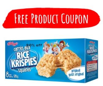 Get A Free Rice Krispies Squares Bars Coupon