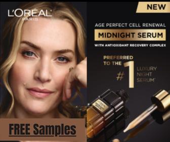 FREE L'Oreal Midnight Serum from Sampler