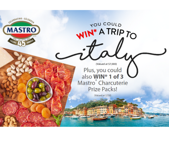 Win a Trip to Italy from Mastro & San Daniele