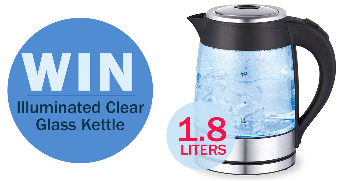 Win An Illuminated Clear Glass Electric Kettle