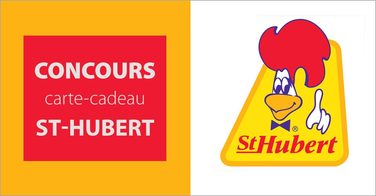 Gagnez une carte-cadeau St-Hubert de 20 $